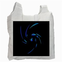 Blue Twist Recycle Bag (two Side)  by Valentinaart