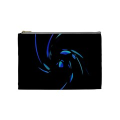 Blue Twist Cosmetic Bag (medium)  by Valentinaart