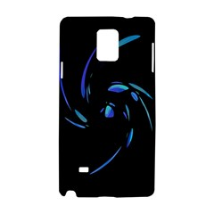 Blue Twist Samsung Galaxy Note 4 Hardshell Case by Valentinaart