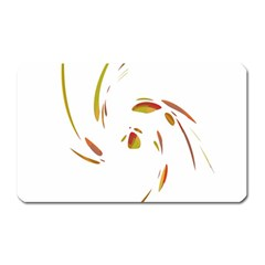 Orange Twist Magnet (rectangular) by Valentinaart