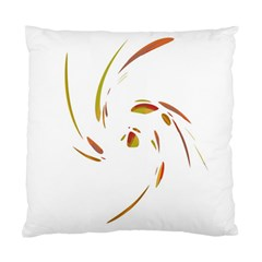 Orange Twist Standard Cushion Case (two Sides) by Valentinaart