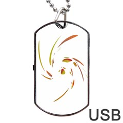 Orange Twist Dog Tag Usb Flash (one Side) by Valentinaart