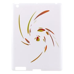 Orange Twist Apple Ipad 3/4 Hardshell Case by Valentinaart