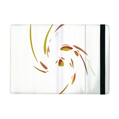 Orange Twist Apple Ipad Mini Flip Case by Valentinaart