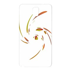 Orange Twist Samsung Galaxy Note 3 N9005 Hardshell Back Case by Valentinaart