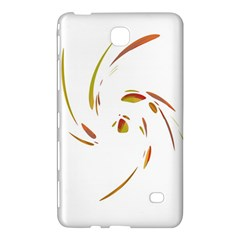 Orange Twist Samsung Galaxy Tab 4 (8 ) Hardshell Case  by Valentinaart