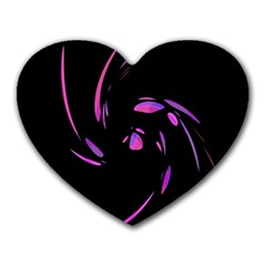 Purple Twist Heart Mousepads by Valentinaart