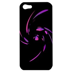 Purple Twist Apple Iphone 5 Hardshell Case by Valentinaart