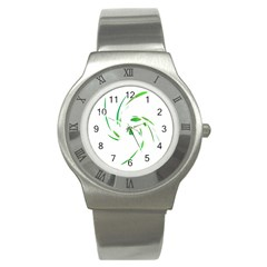 Green Twist Stainless Steel Watch by Valentinaart