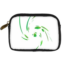 Green Twist Digital Camera Cases by Valentinaart