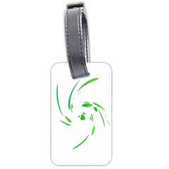 Green Twist Luggage Tags (one Side)  by Valentinaart