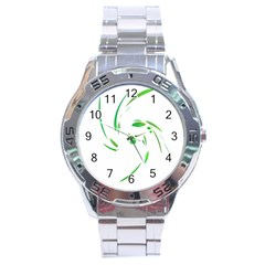 Green Twist Stainless Steel Analogue Watch by Valentinaart