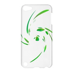 Green Twist Apple Ipod Touch 5 Hardshell Case by Valentinaart