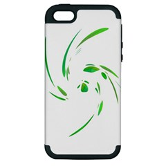 Green Twist Apple Iphone 5 Hardshell Case (pc+silicone) by Valentinaart