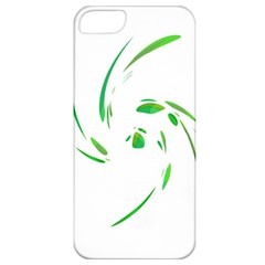 Green Twist Apple Iphone 5 Classic Hardshell Case by Valentinaart