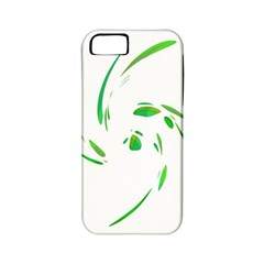Green Twist Apple Iphone 5 Classic Hardshell Case (pc+silicone) by Valentinaart