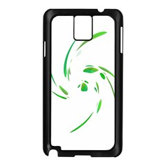 Green Twist Samsung Galaxy Note 3 N9005 Case (black) by Valentinaart