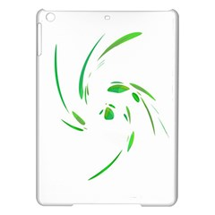 Green Twist Ipad Air Hardshell Cases by Valentinaart