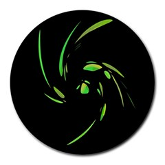 Green Twist Round Mousepads by Valentinaart