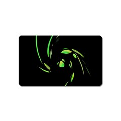 Green Twist Magnet (name Card) by Valentinaart