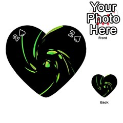 Green Twist Playing Cards 54 (heart)  by Valentinaart