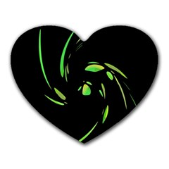 Green Twist Heart Mousepads by Valentinaart