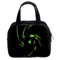 Green Twist Classic Handbags (2 Sides) by Valentinaart