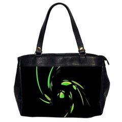 Green Twist Office Handbags (2 Sides)  by Valentinaart