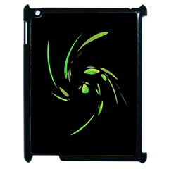 Green Twist Apple Ipad 2 Case (black) by Valentinaart