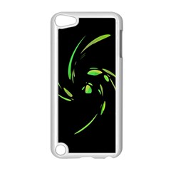 Green Twist Apple Ipod Touch 5 Case (white) by Valentinaart