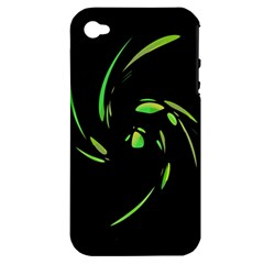 Green Twist Apple Iphone 4/4s Hardshell Case (pc+silicone) by Valentinaart