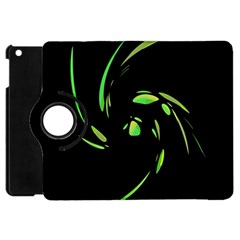 Green Twist Apple Ipad Mini Flip 360 Case by Valentinaart