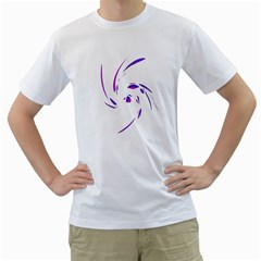 Purple Twist Men s T-shirt (white) (two Sided) by Valentinaart