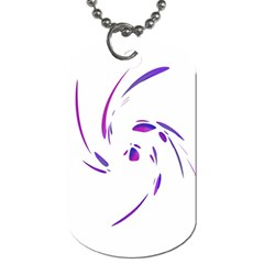Purple Twist Dog Tag (one Side) by Valentinaart