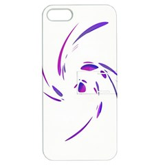 Purple Twist Apple Iphone 5 Hardshell Case With Stand by Valentinaart