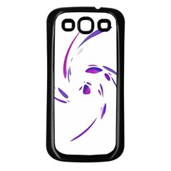 Purple Twist Samsung Galaxy S3 Back Case (black) by Valentinaart