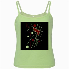 Artistic Abstraction Green Spaghetti Tank by Valentinaart