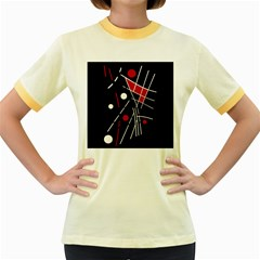 Artistic Abstraction Women s Fitted Ringer T Shirts