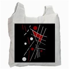 Artistic Abstraction Recycle Bag (two Side)  by Valentinaart