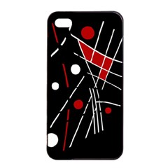 Artistic Abstraction Apple Iphone 4/4s Seamless Case (black) by Valentinaart