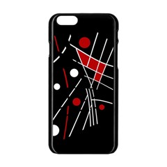 Artistic Abstraction Apple Iphone 6/6s Black Enamel Case by Valentinaart
