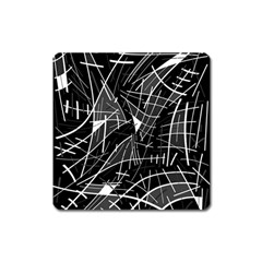 Gray Abstraction Square Magnet by Valentinaart