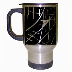 Gray Abstraction Travel Mug (silver Gray) by Valentinaart