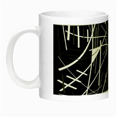 Gray Abstraction Night Luminous Mugs by Valentinaart