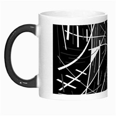 Gray Abstraction Morph Mugs by Valentinaart