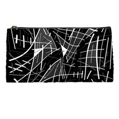 Gray Abstraction Pencil Cases by Valentinaart