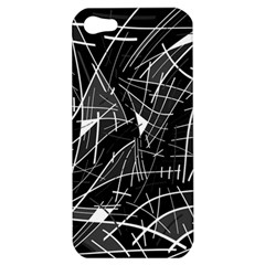 Gray Abstraction Apple Iphone 5 Hardshell Case by Valentinaart