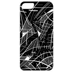 Gray Abstraction Apple Iphone 5 Classic Hardshell Case by Valentinaart