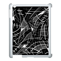 Gray Abstraction Apple Ipad 3/4 Case (white) by Valentinaart