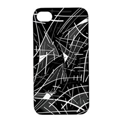 Gray Abstraction Apple Iphone 4/4s Hardshell Case With Stand by Valentinaart